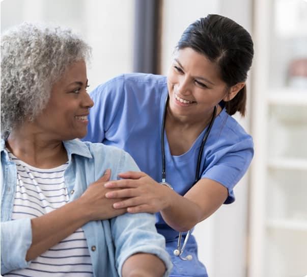 Patient with a nurse