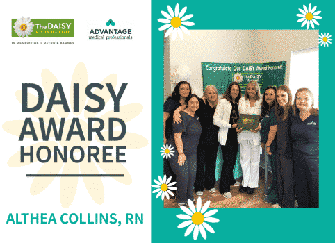 Nurse Althea Collins honored with DAISY Award from Advantage Medical Professionals